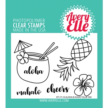 Avery Elle Clear Stamps ALOHA ST-17-14