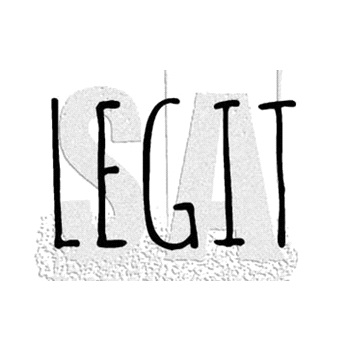 Tim Holtz Rubber Stamp LEGIT Stampers Anonymous D7-2951