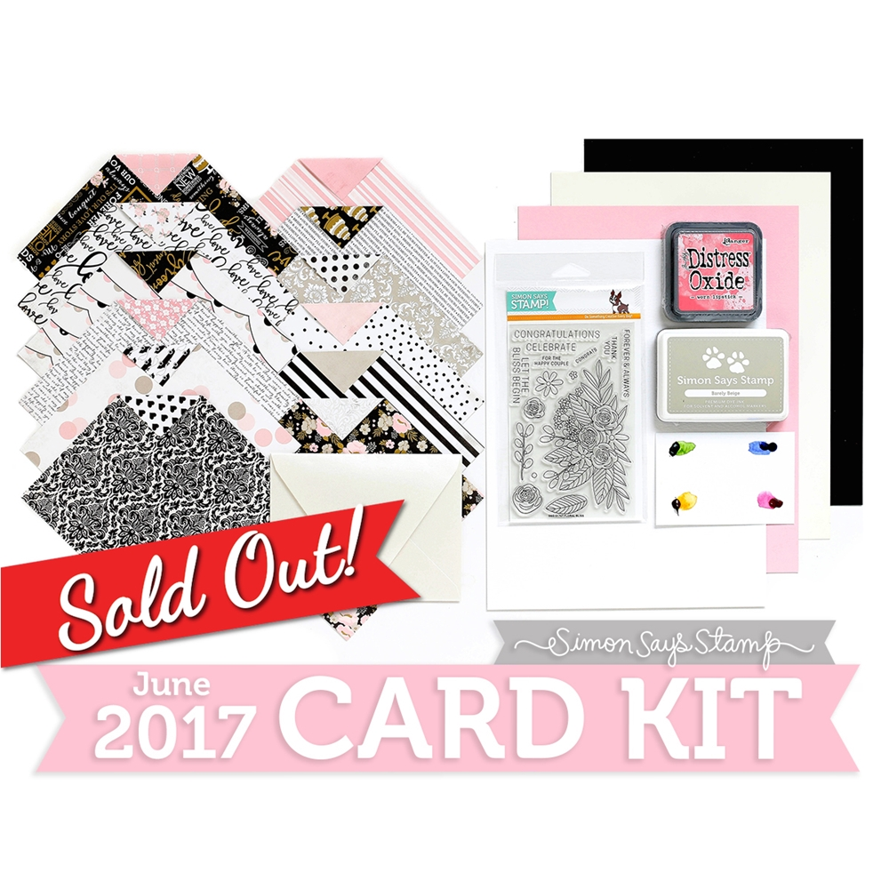 Simon Says Stamp Card Kit of The Month JUNE 2017 BLISSFUL CK0617 zoom image
