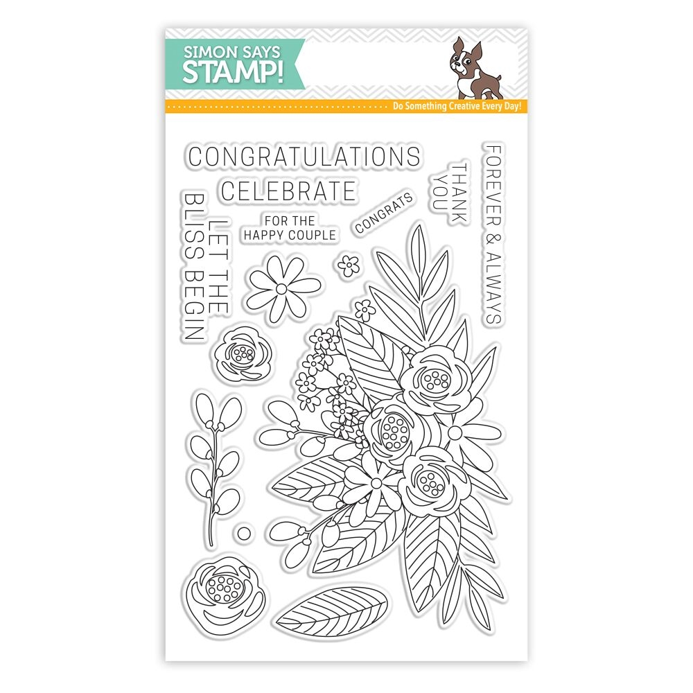 Simon Says Clear Stamps FLORAL BLISS SSS101707 zoom image