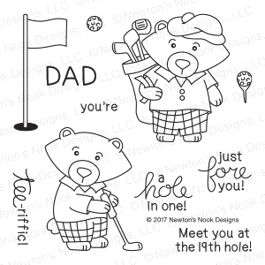 Newton's Nook Designs WINSTON'S TEE TIME Clear Stamp Set 20170503