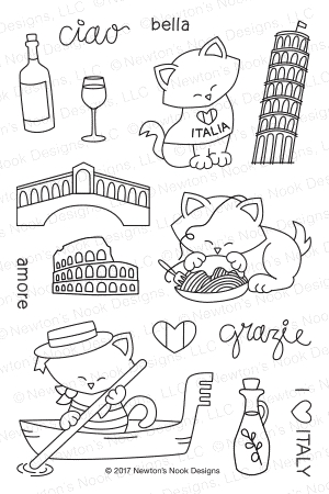 Newton's Nook Designs NEWTON DREAMS OF ITALY Clear Stamp Set 20170501 zoom image