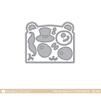 Mama Elephant FAVOR BAG ACCESSORY BEAR Creative Cuts Steel Dies