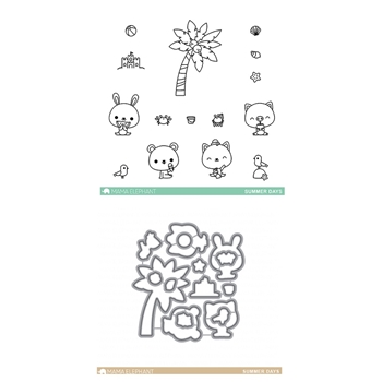 Mama Elephant Clear Stamp and Die MEPT368 Summer Days SET