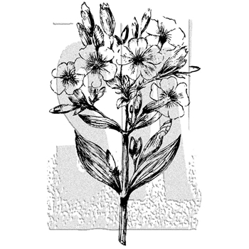 Tim Holtz Rubber Stamp ILLUSTRATED FLOWER 3 Stampers Anonymous P4-2989