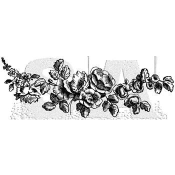 Tim Holtz Rubber Stamp FLOWER BORDER 1 Stampers Anonymous P6-3003