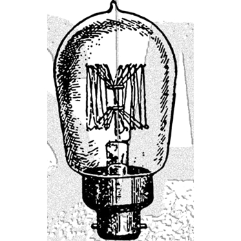 Tim Holtz Rubber Stamp BULB Stampers Anonymous D2-3004