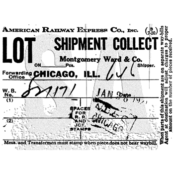 Tim Holtz Rubber Stamp SHIPMENT COLLECT Stampers Anonymous M4-3021
