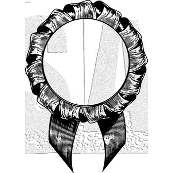 Tim Holtz Rubber Stamp PRIZE RIBBON Stampers Anonymous E1-3026
