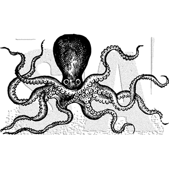 Tim Holtz Rubber Stamp OCTOPUS Stampers Anonymous U1-3038