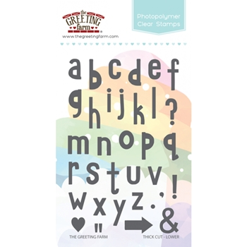 The Greeting Farm THICK CUT LOWER Alphabet Clear Stamps TGF317