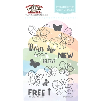 The Greeting Farm BORN AGAIN Clear Stamps TGF319