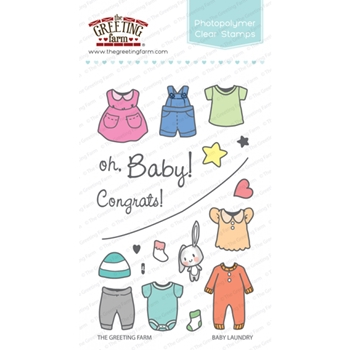 The Greeting Farm BABY LAUNDRY Clear Stamps TGF313