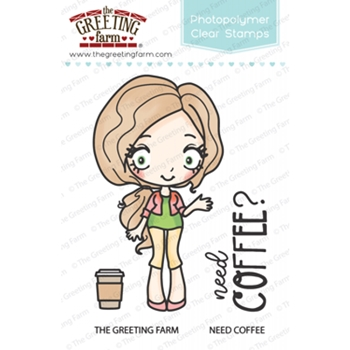 The Greeting Farm NEED COFFEE Clear Stamps TGF315