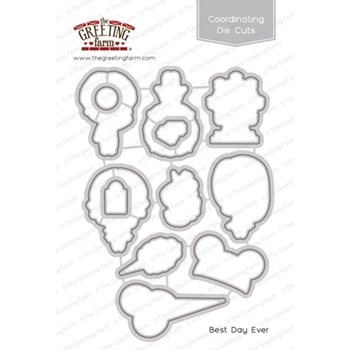 The Greeting Farm BEST DAY EVER Coordinating Die Cuts TGF312