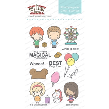 The Greeting Farm BEST DAY EVER Clear Stamps TGF311