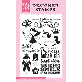 Echo Park I BELIEVE IN FAIRY TALES Clear Stamps PP130045