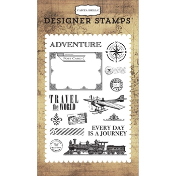 Carta Bella TRAVEL THE WORLD Clear Stamps CBTR68040