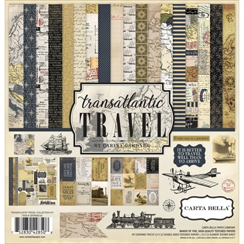 Carta Bella TRANSATLANTIC TRAVEL 12 x 12 Collection Kit CBTR68016
