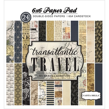 Carta Bella TRANSATLANTIC TRAVEL 6 x 6 Paper Pad CBTR68015