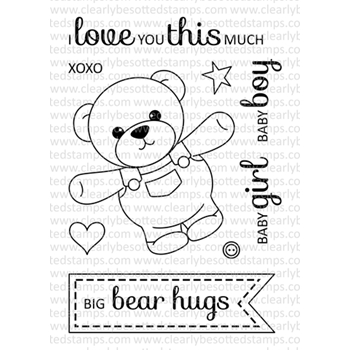 Clearly Besotted BEAR HUGS II Clear Stamp Set
