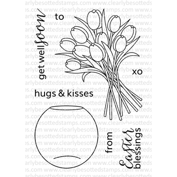 Clearly Besotted DELIGHTFUL DAY ADDITIONS Clear Stamp Set