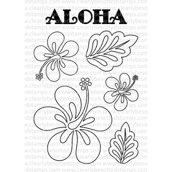 Clearly Besotted ALOHA II Clear Stamp Set