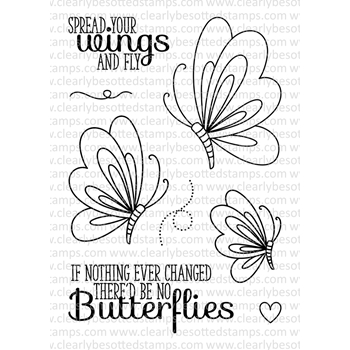 Clearly Besotted EVERYTHING CHANGES II Clear Stamp Set