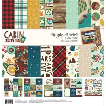 Simple Stories CABIN FEVER 12 x 12 Collection Kit 3030