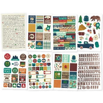 Simple Stories CABIN FEVER 4 x 6 Stickers 3047