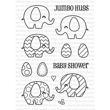 Clearly Besotted BABY SHOWER II Clear Stamp Set
