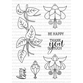 Clearly Besotted FABULOUS FUCHSIAS II Clear Stamp Set