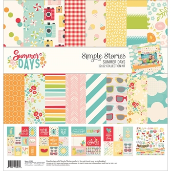 Simple Stories SUMMER DAYS 12 x 12 Collection Kit 9100