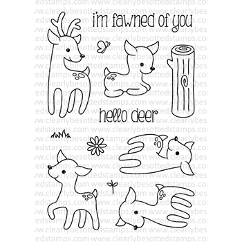 Clearly Besotted DEER TO ME II Clear Stamp Set