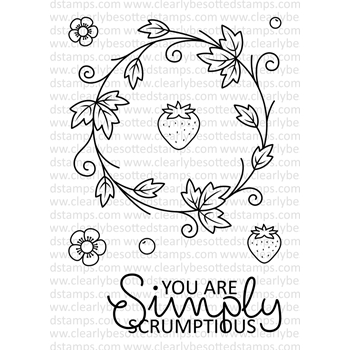 Clearly Besotted SIMPLY SCRUMPTIOUS II Clear Stamp Set