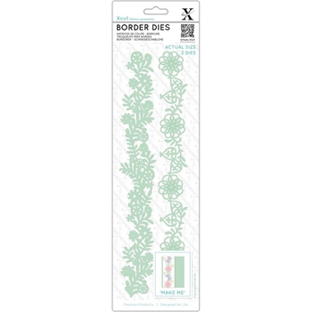 DoCrafts FLORAL BORDERS XCut Dies Set XC504029