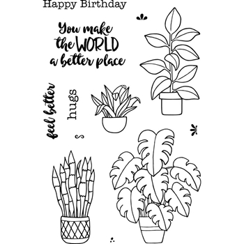 Jane's Doodles PLANTS Clear Stamp Set 743108