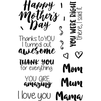 Jane's Doodles MOTHER'S DAY Clear Stamp Set 743139