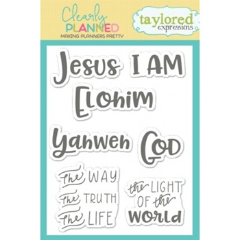 Taylored Expressions Clearly Planned YAHWEH Clear Stamp Set TECP29