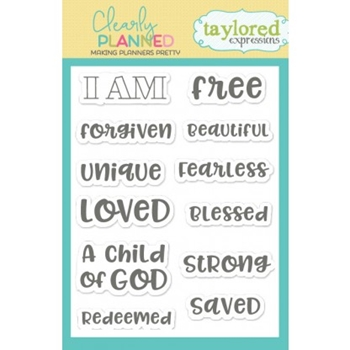 Taylored Expressions Clearly Planned I AM Clear Stamp Set TECP33