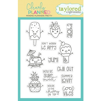 Taylored Expressions Clearly Planned SUPER SWEET Clear Stamp Set TECP35