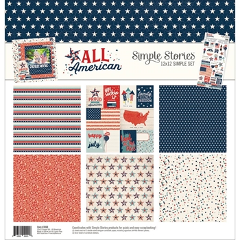 Simple Stories ALL AMERICAN 12 x 12 Collection Kit 3060