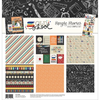 Simple Stories OLD SCHOOL 12 x 12 Collection Kit 3050