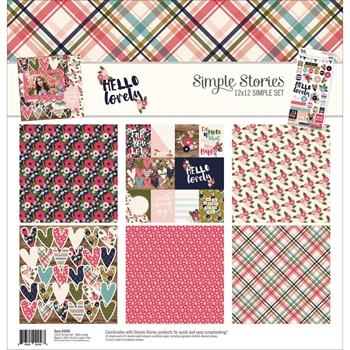 Simple Stories HELLO LOVELY 12 x 12 Collection Kit 3065