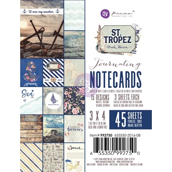 Prima Marketing ST. TROPEZ 3 X 4 Journaling Notecards 992750