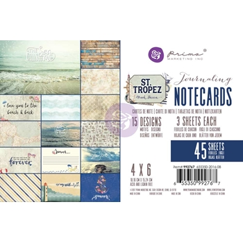 Prima Marketing ST. TROPEZ 4 X 6 Journaling Notecards 992767