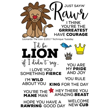 Technique Tuesday LEONARDO THE LION Animal House Clear Stamps 02456