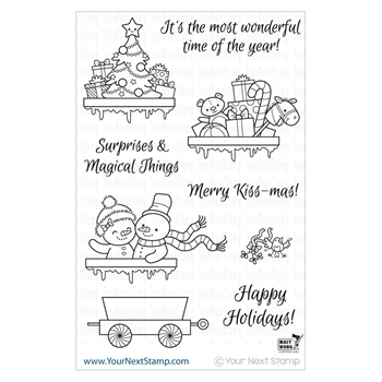 Your Next Stamp SANTA EXPRESS TRAIN CARTS Clear CYNS148