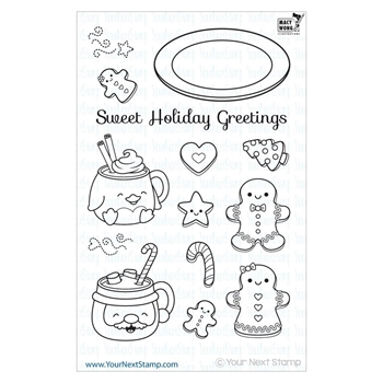 Your Next Stamp SWEET HOLIDAY GREETINGS Clear CYNS146