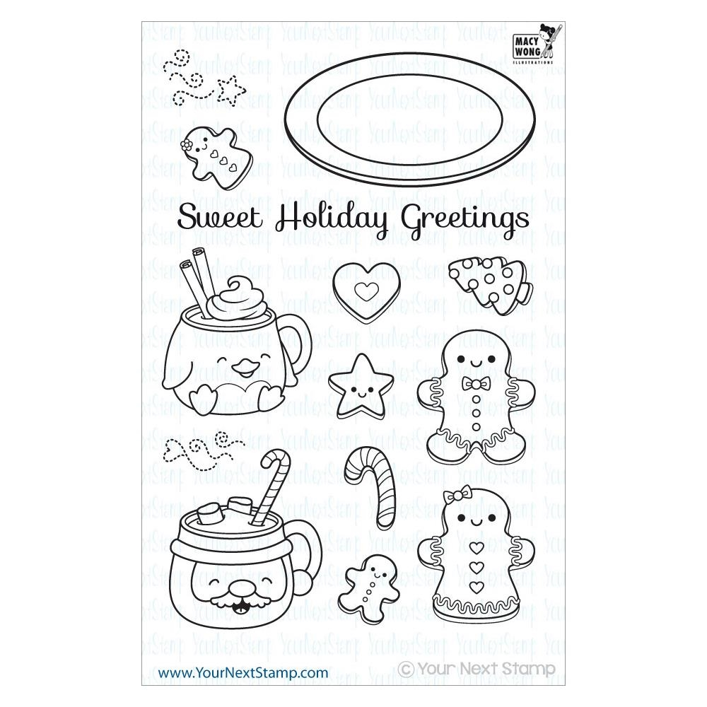 Your Next Stamp SWEET HOLIDAY GREETINGS Clear CYNS146* zoom image